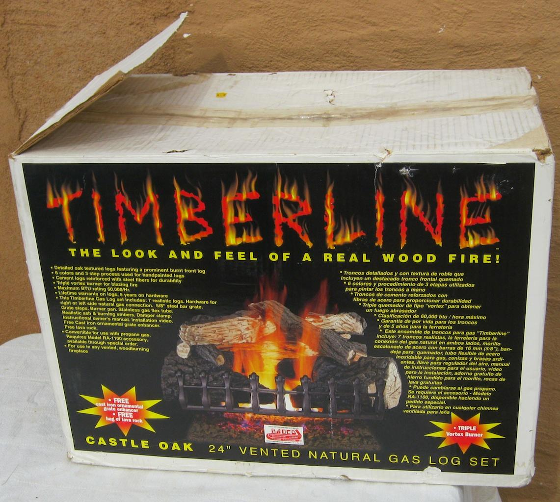 Timberline Castle Oak 24 Vented Natural Gas Log Set