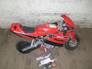 Razor Pocket Rocket Red Miniature Electric Bike For parts