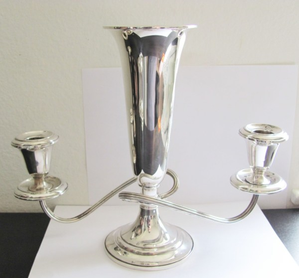 Antique Gorham Sterling #643 Candelabra Flower Vase