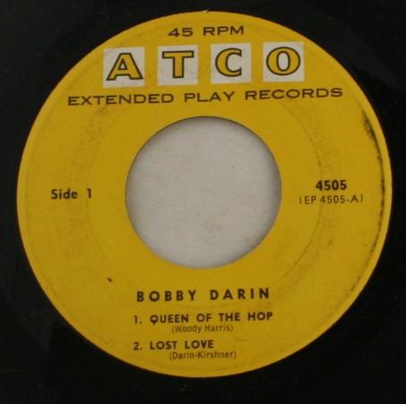 45 record, vinyl, Bobby Darin, ATCO Records