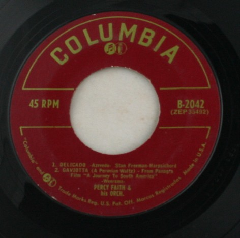 vinyl record, 45, Percy Faith