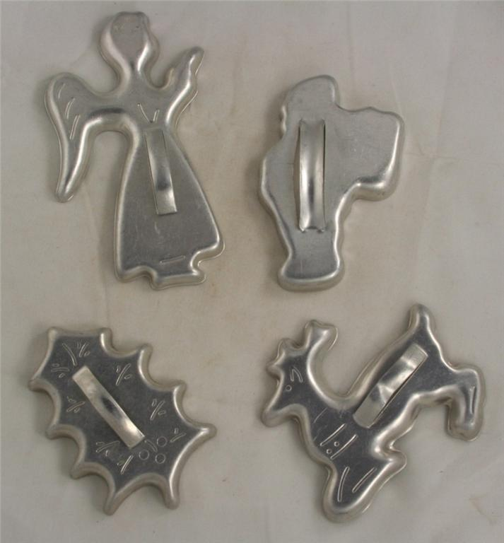 cookie cutter, aluminum, holiday, embossed