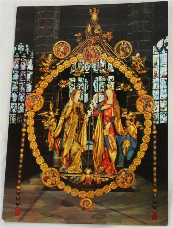 vintage postcard, Germany,  Nurnberg, Bavaria, The Annunciation, St Lorenz Church