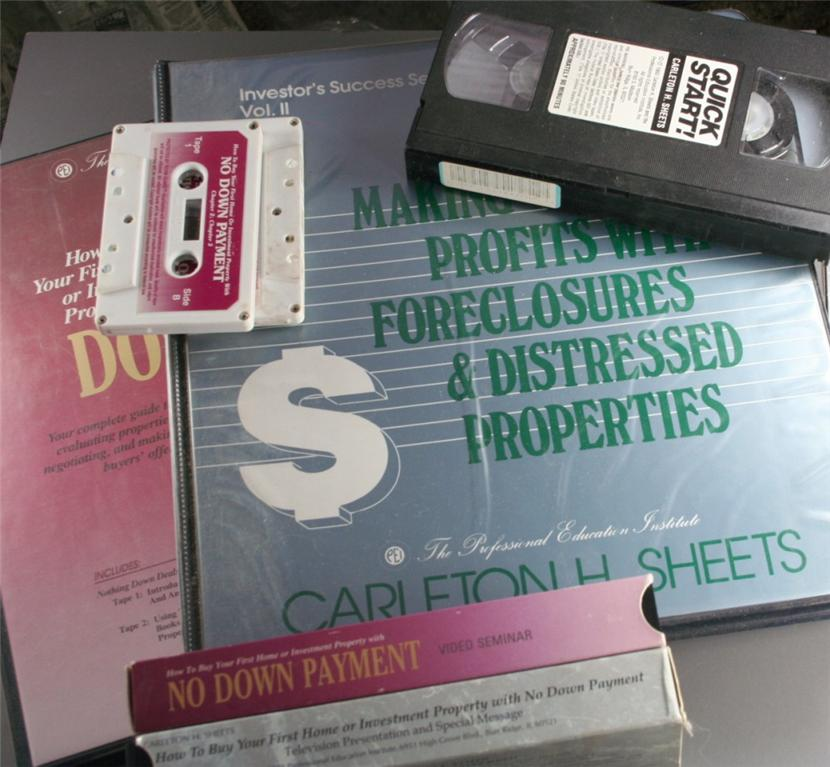 real estate, course, investment, carleton sheets,VHS,Cassette