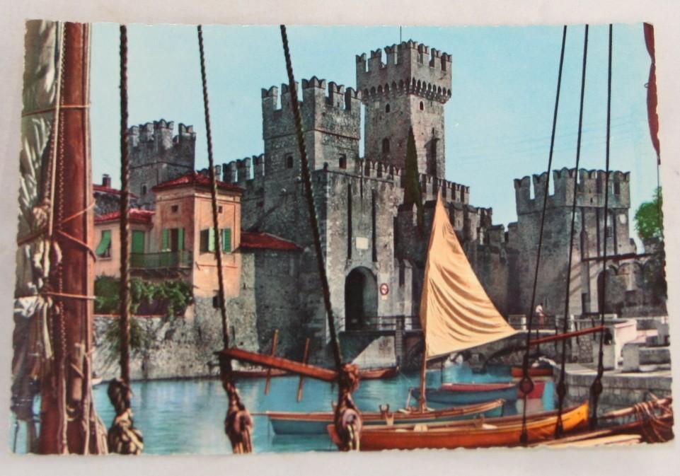 vintage postcard, vintage postcard, Italy, lago di garda, lake garda