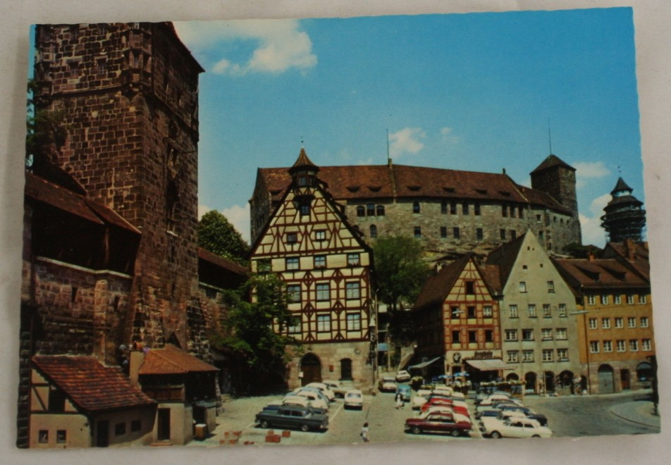 vintage postcard, Bavaria, Germany, Nurnberg, Town Center
