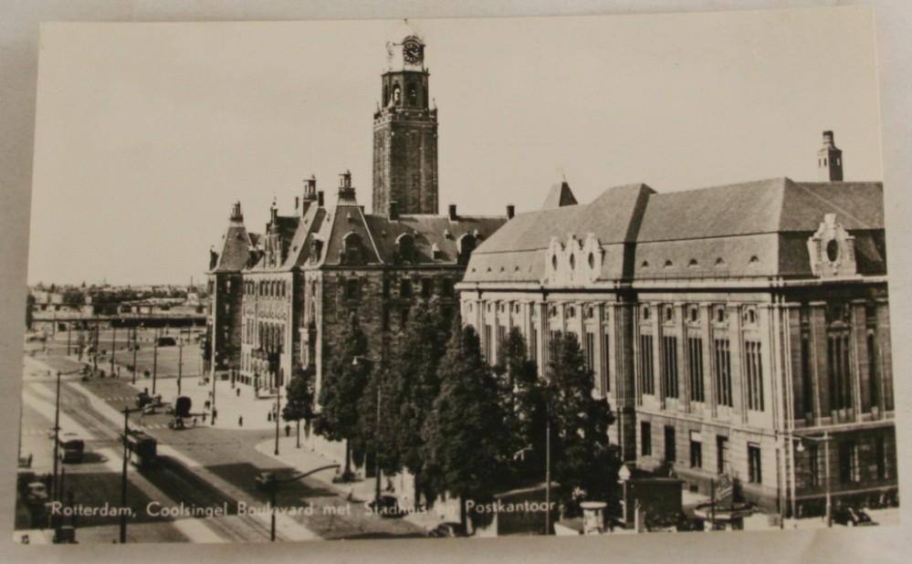 vintage postcard, Netherlands, Rotterdam, statehouse
