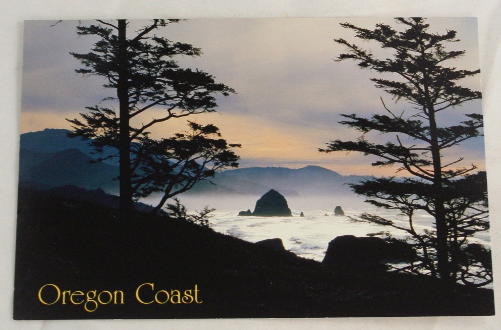 vintage postcard, Oregon Coast, Oregon, OR