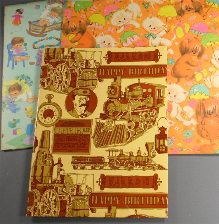 vintage paper, wrapping paper, shower, birthday, full sheets