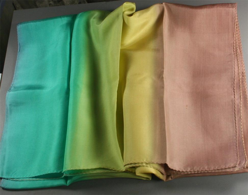 vintage scarf, silk ,strip dyed
