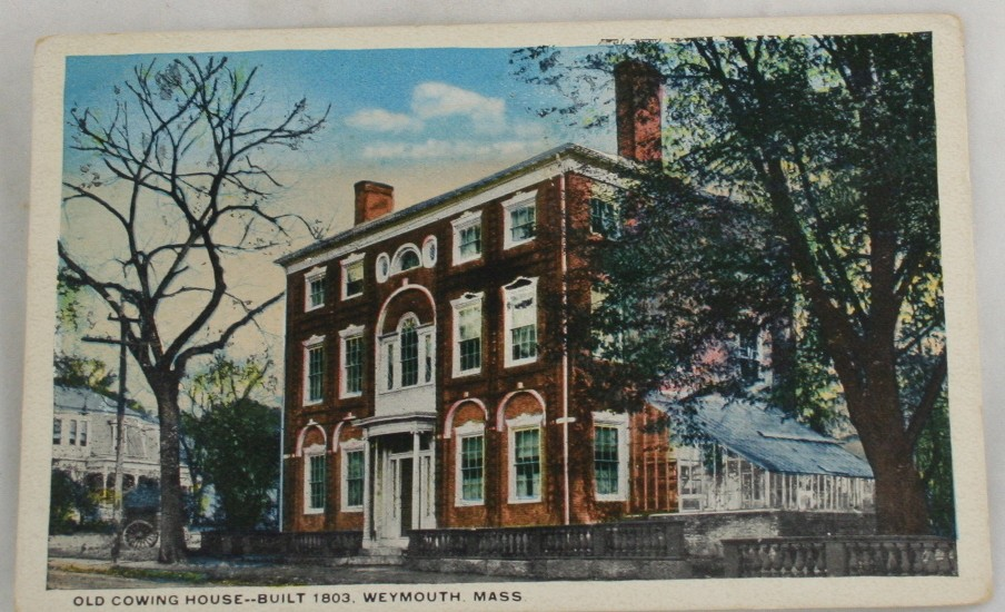 vintage postcard, Weymouth,Massachussets,MA, Hand colored, hand coloured