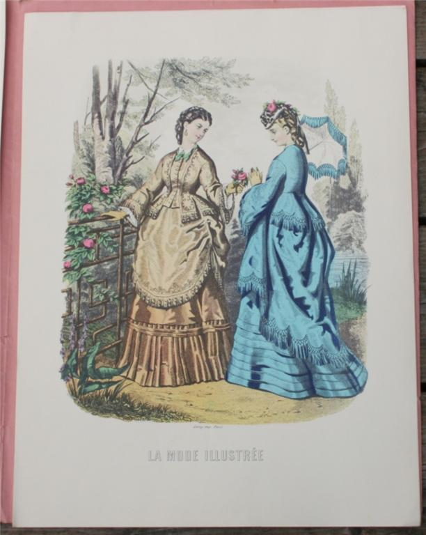 vintage print, La Mode Illustree, French, fashion print, portfolio