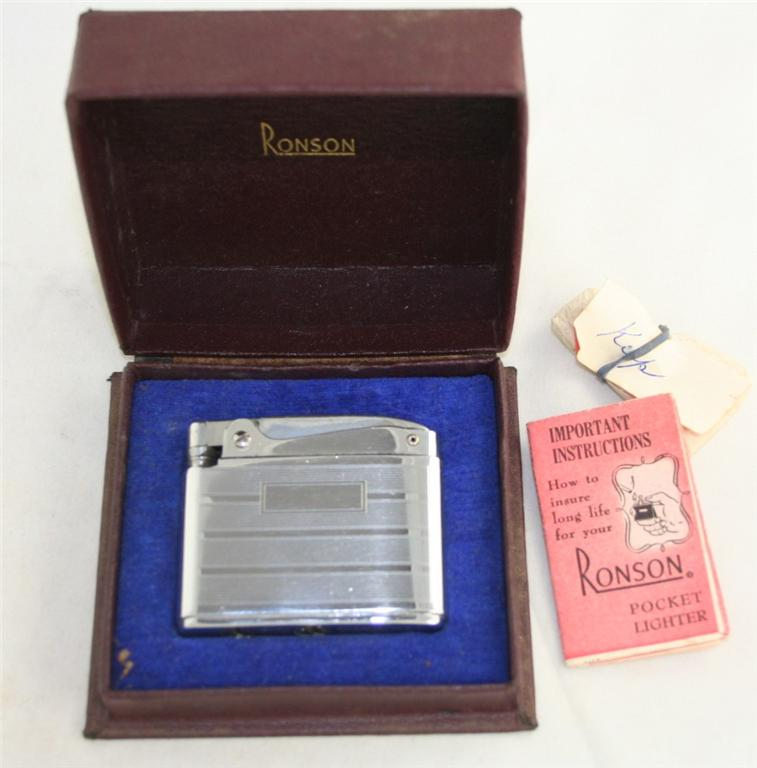vintage lighter, Ronson Adonis, sterling, engraveable
