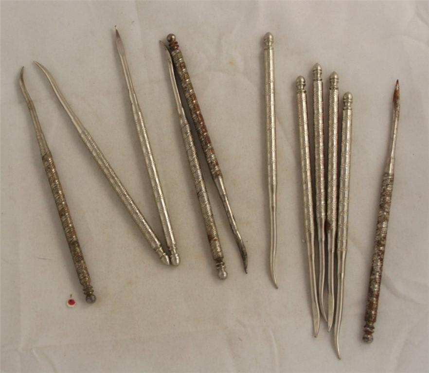 nut picks, vintage utensil, metal
