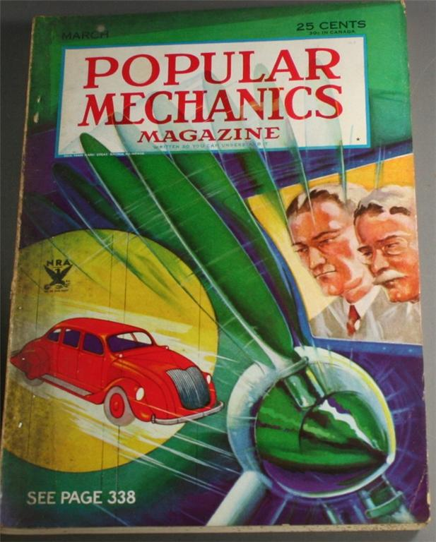 vintage magazine, back issue, Popular Mechanics,March, 1934