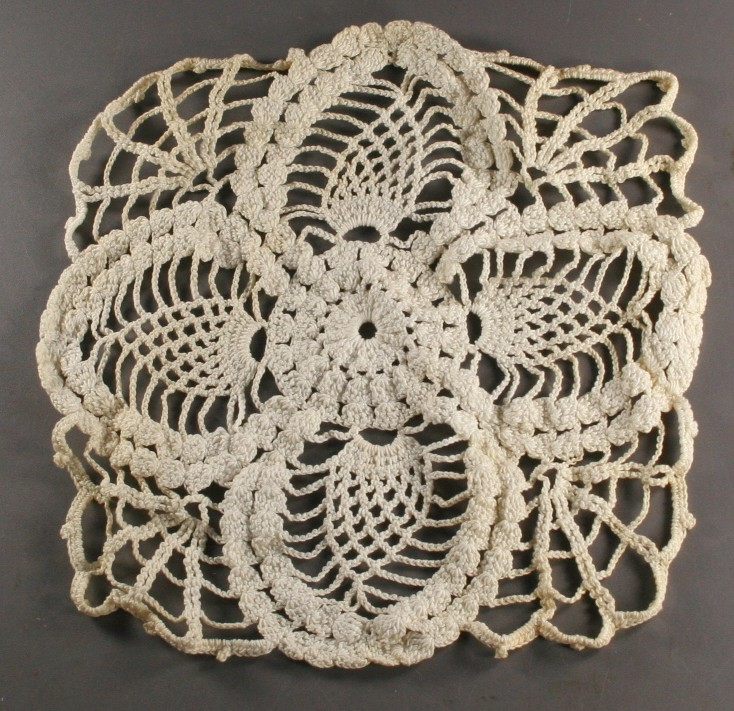 vintage doily, pineapple,spider web