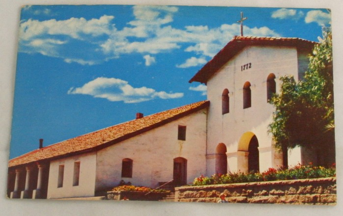 vintage postcard, California, CA,San Luis Obispo,mission