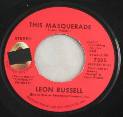 vintage record,45,vinyl,Leon Russell,The Masquerade, Shelter Records