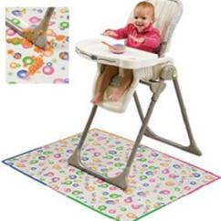 High Chair Splat Mat Comfy Outdoor Chairs Mommy's Helper Baby Mess Floor Protector - Clear W/ Design | Ebay
