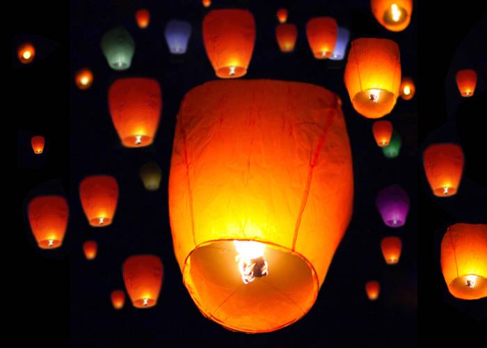 Lot 50 White Paper Chinese Lanterns Sky Fire Fly Candle Lamp Wish Party Wedding EBay