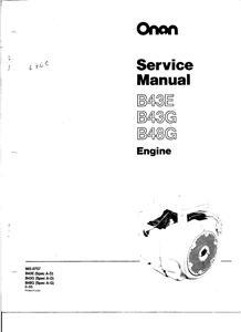 Onan Generator Parts Manual