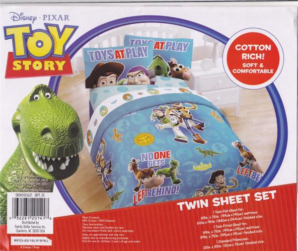 Toy Story Twin Size Comforter And Sheet Set