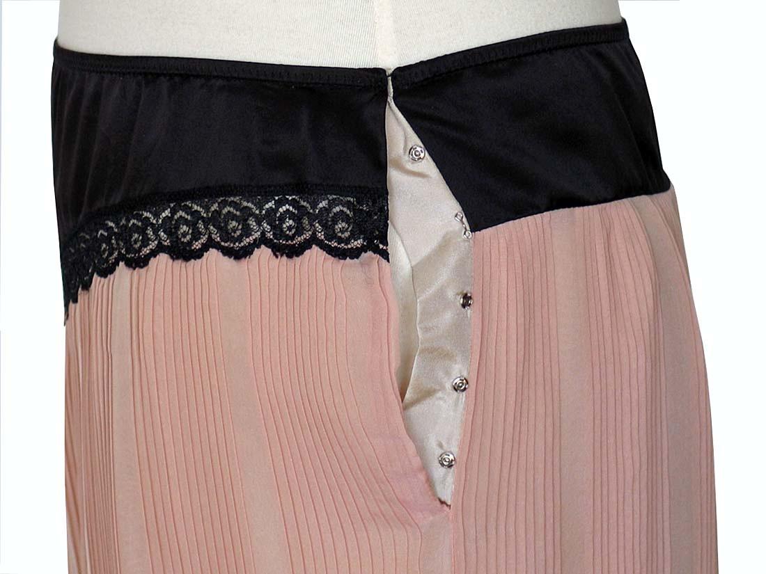 MARC JACOBS Runway Pink Amp Black Pleated Silk Slip Skirt 30 Inch Waist NWT EBay