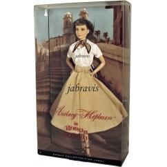 English Roll Arm Sofa Australia Gingham Bed Barbie Collector 2013 Audrey Hepburn En Vacaciones