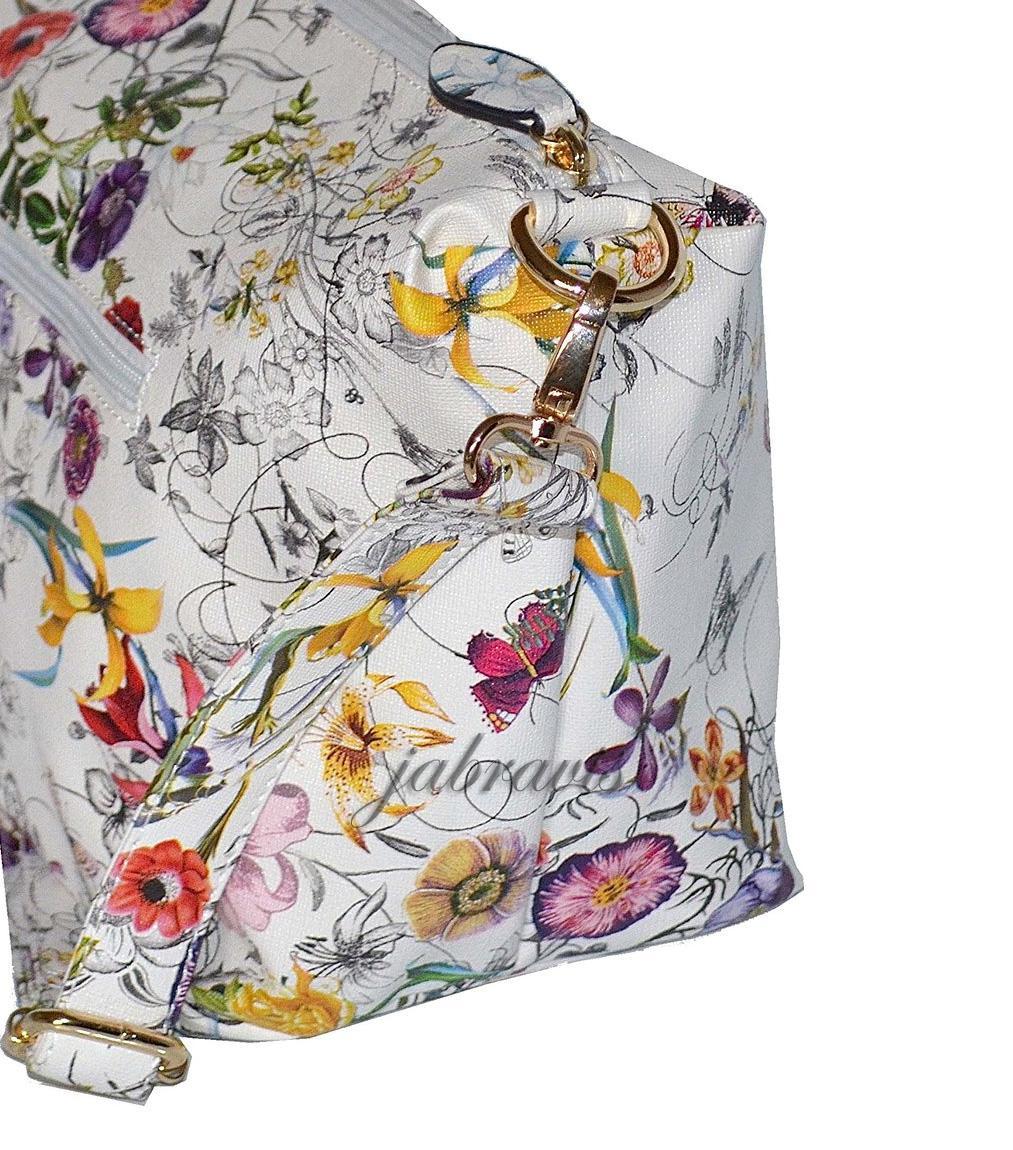 Imoshion Floral Saffiano Texture Giada 2 Pc Reversible 2 In 1 Vegan Tote Amp Bag
