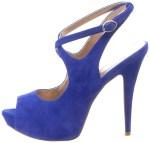 Cobalt Blue Suede Shoes Women