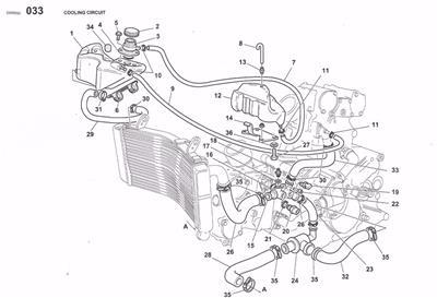 1994-2002 Ducati 748 916 996 998 Mito radiator thermistor