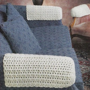 chair arm covers pattern leather reclining with ottoman 43m crochet patterns for: watermelon tablecloth + & sofa | ebay