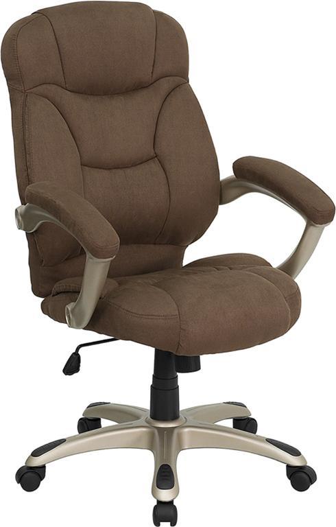 brown computer chair papasan ontario microfiber fabric office desk ebay