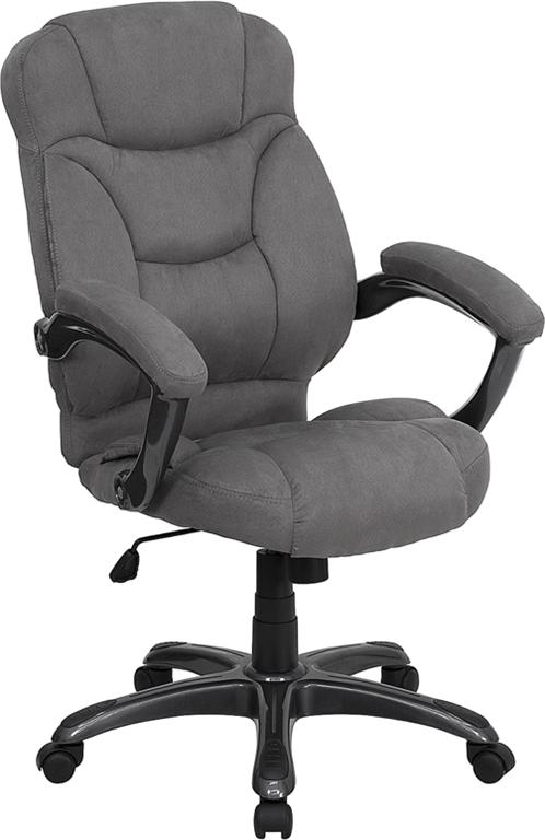 cloth office chairs target outdoor chair cushions grey microfiber fabric computer desk ebay