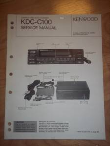 Kenwood Service Manual~KDCC100 CD ChangerPlayer~Car