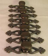 8 Country French Oil Rubbed Drawer Handles Pull Knobs ...