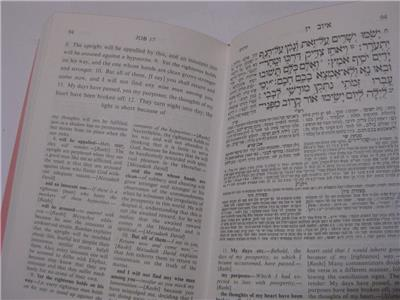 Hebrew English & RASHI IYOV/JOB of Bible book Judaica