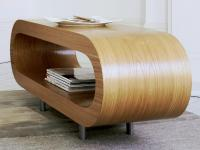 Contemporary Loopy Coffee Table in Oak by Gillmore Space ...