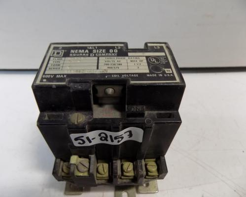 small resolution of square d size 00 3 phase contactor 8536 ag2
