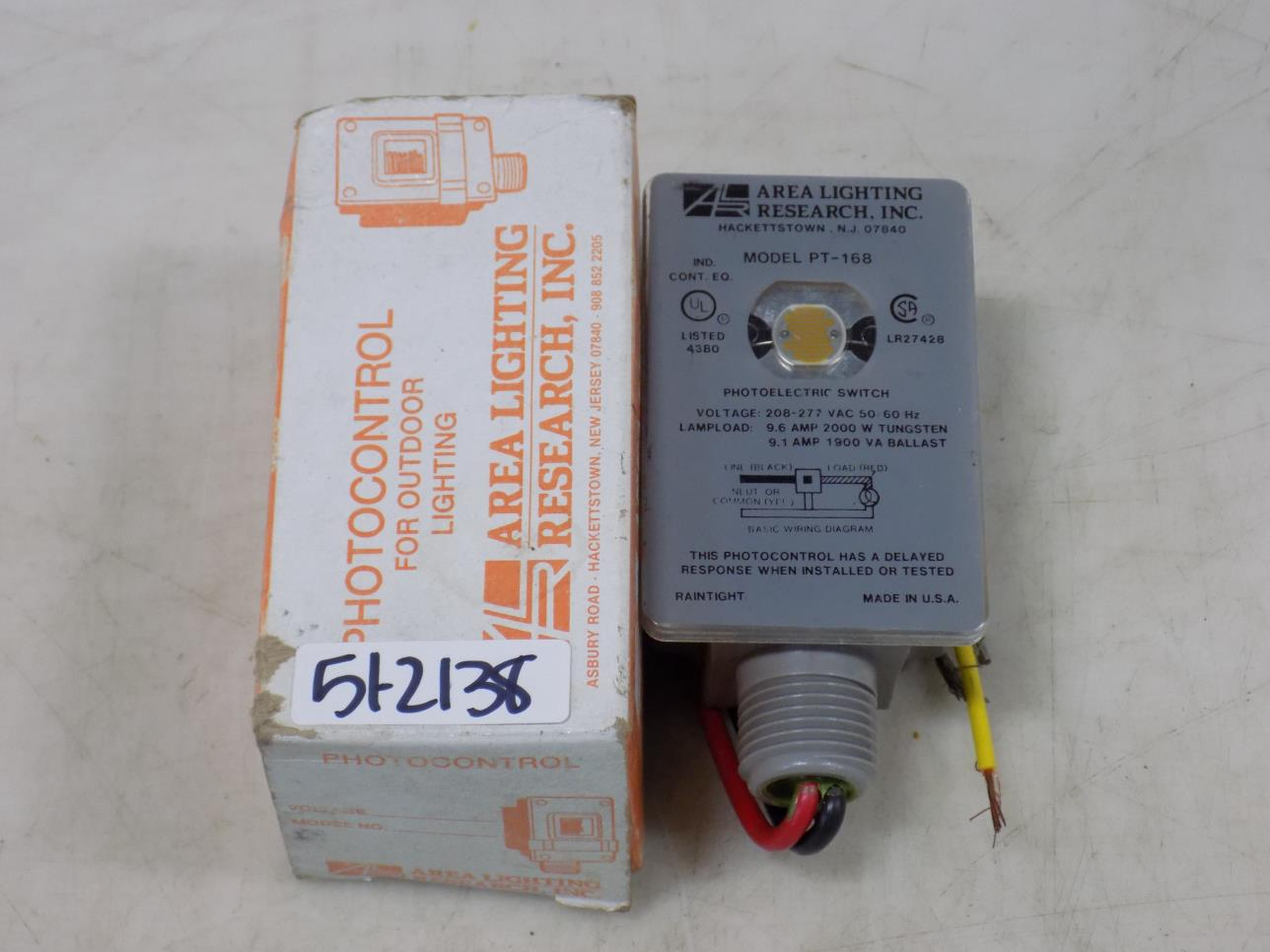 hight resolution of area lighting research inc photoelectric switch pt 168 nib