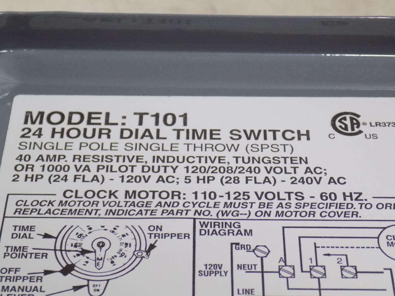 hight resolution of intermatic 40a spst 24 hour dial time switch model t101 nnb