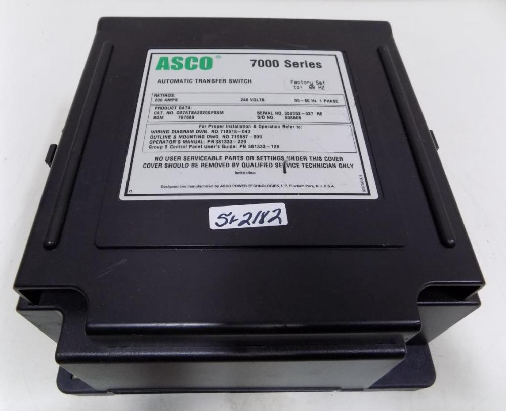 medium resolution of asco 7000 ser 200a 240v 1ph 50 60hz automatic transfer switch d07atsa20200f5xm