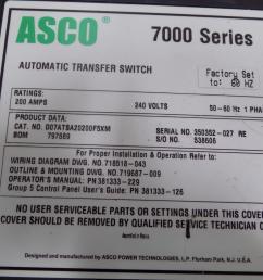 asco 7000 ser 200a 240v 1ph 50 60hz automatic transfer switch d07atsa20200f5xm [ 1288 x 966 Pixel ]