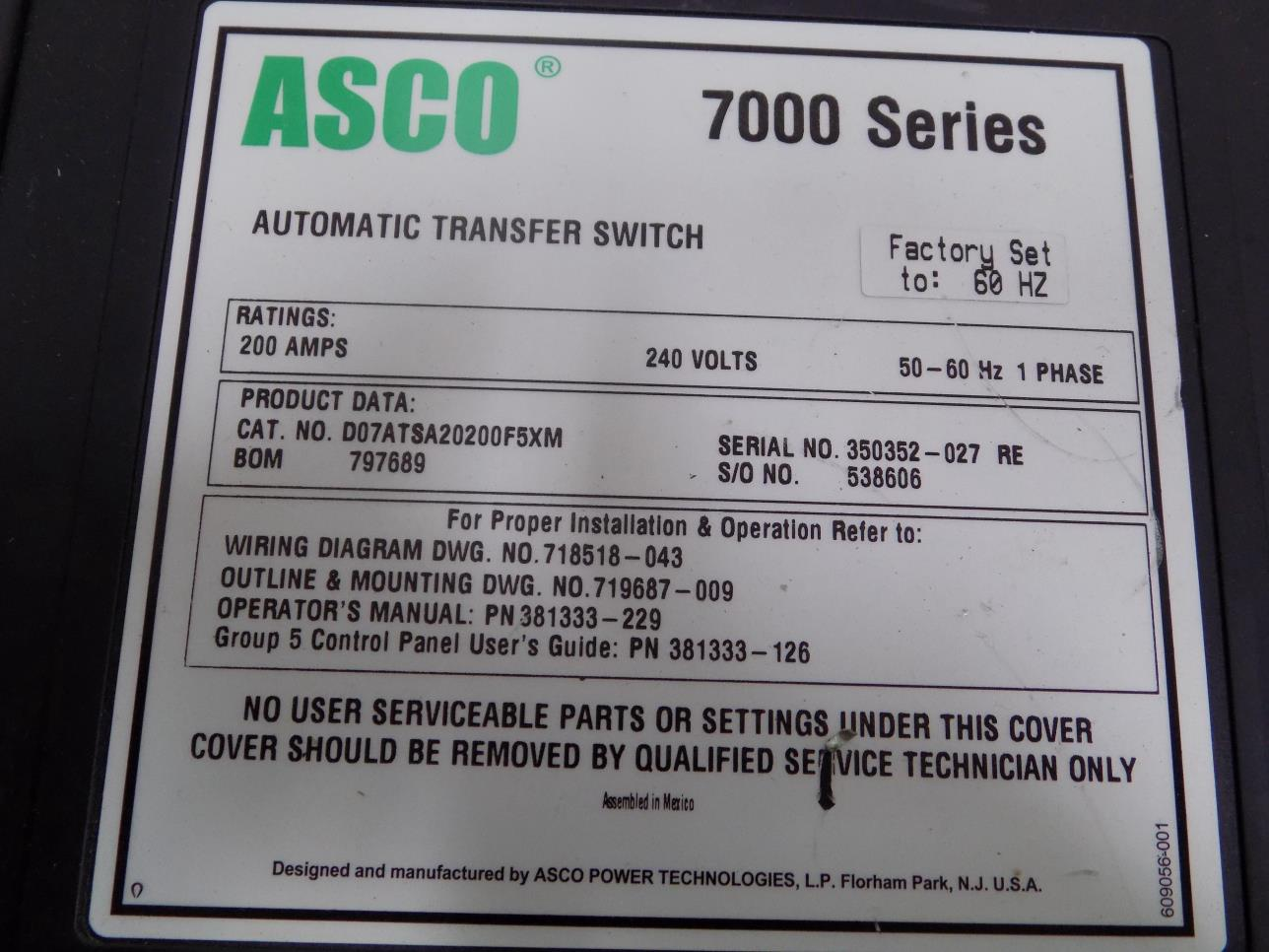 hight resolution of asco 7000 ser 200a 240v 1ph 50 60hz automatic transfer switch d07atsa20200f5xm