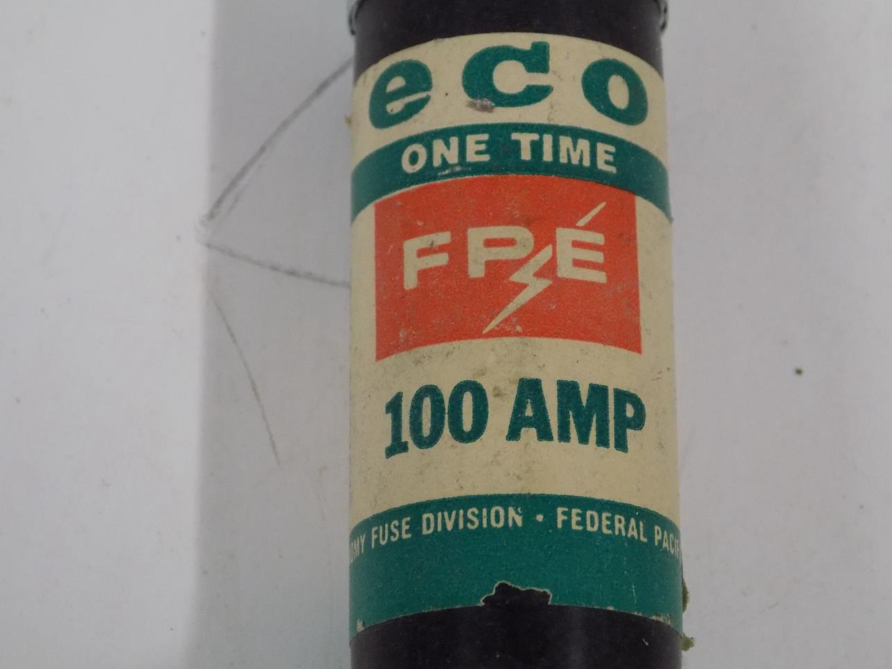 hight resolution of fpe one time 100amp fuse 11100