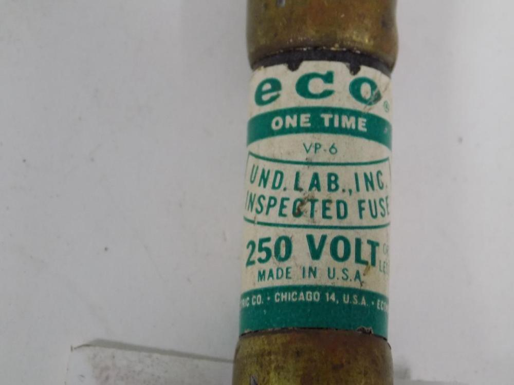 medium resolution of economy eco fpe 25a 250v one time fuse 1125 lot of 6