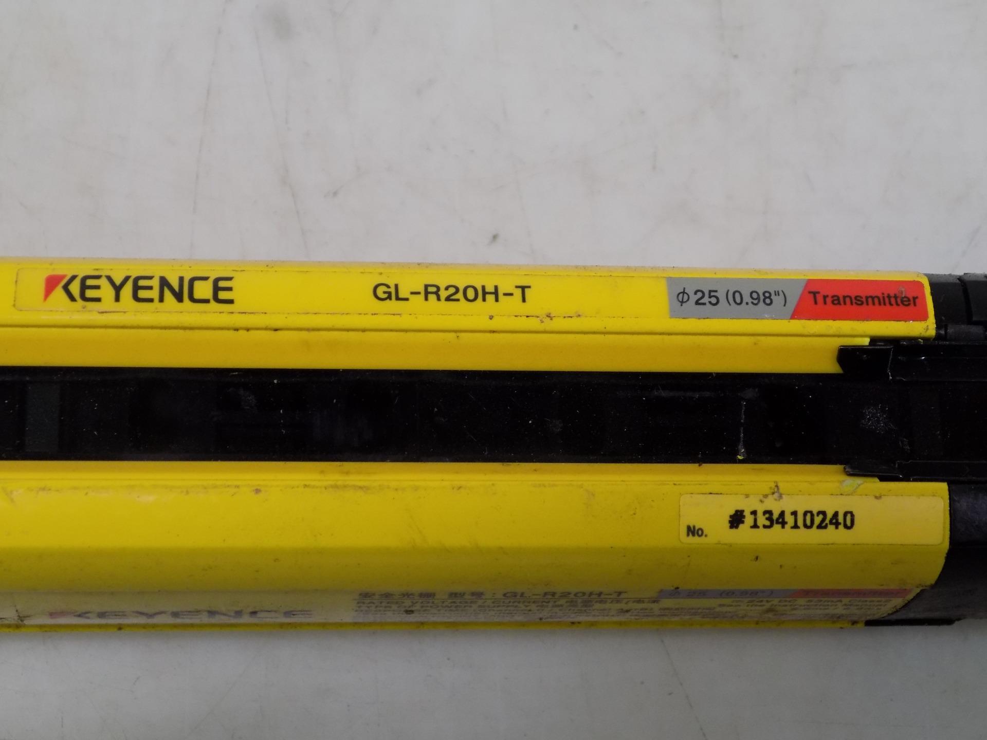keyence safety light curtain gl r20h t
