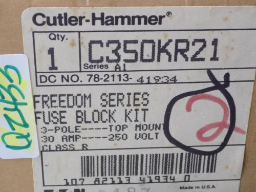 small resolution of cutler hammer 30a 250v 3 pole freedom series fuse block kit c350kr21 series a1