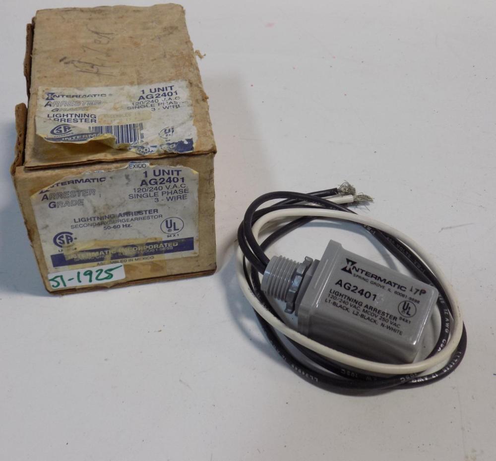 medium resolution of intermatic 120 240vac 1ph 3 wire lightning arrester ag2401 nib