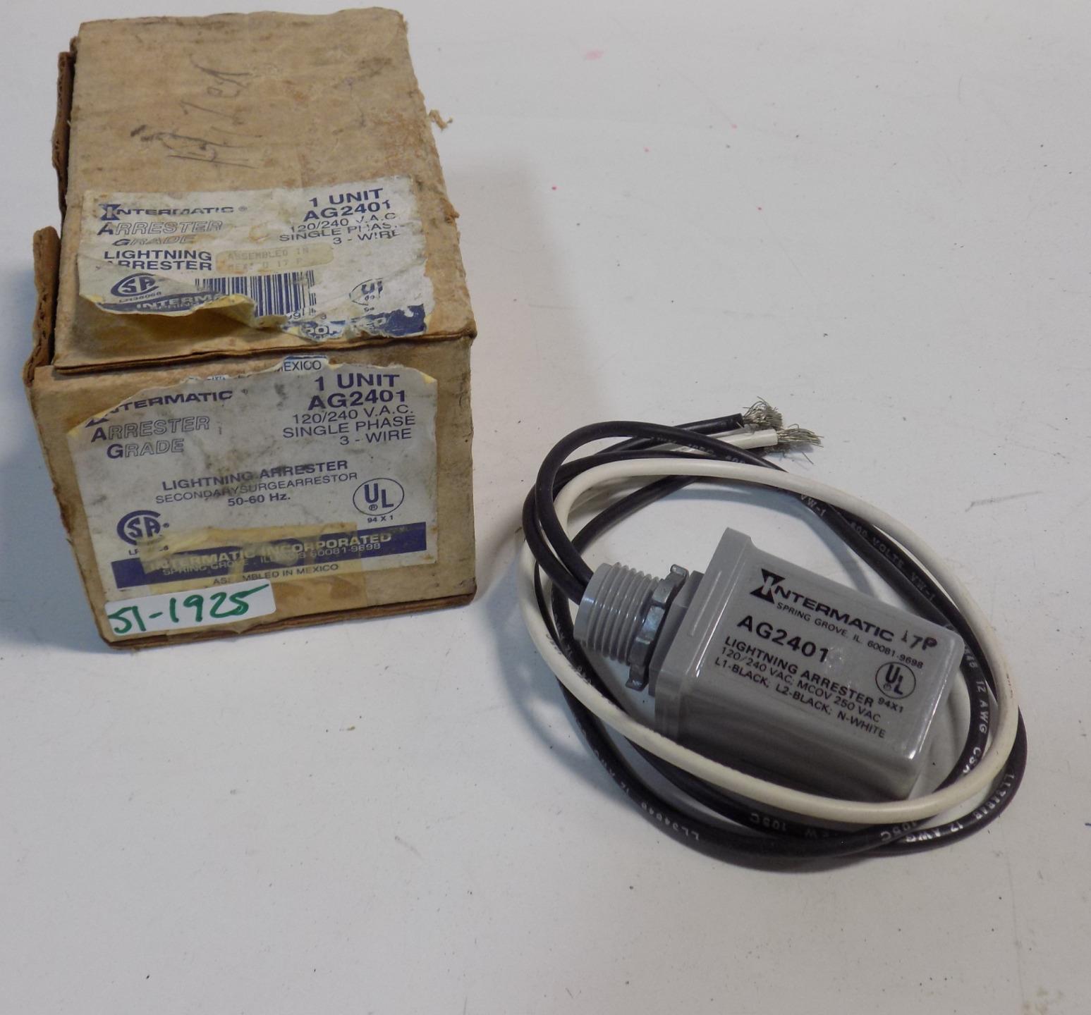 hight resolution of intermatic 120 240vac 1ph 3 wire lightning arrester ag2401 nib